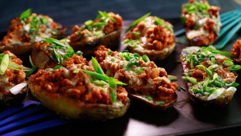 Baked sweet potatoes with filling